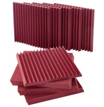 "Auralex Acoustics 2"" Studiofoam Wedges (Burgundy) (12 pcs.)"