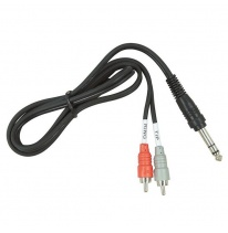 Hosa TRS-202 Dual RCA - 6.3mm TRS Y-Cable 2m