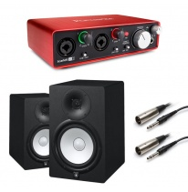 Yamaha HS8 (Pair) + Focusrite Scarlett 2i2 (2nd Generation) Bundle
