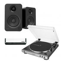Audio Technica AT-LP60x (Gunmetal) + Kanto YU (Black) Bundle