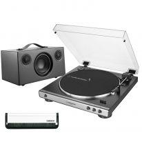 Audio Technica AT-LP60x (Gunmetal) + Audio Pro Addon C5 (Black) Bundle