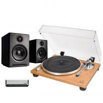 Audio Technica AT-LPW30TK + Audioengine A2+ Wireless Bundle
