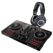 Pioneer DDJ-400 + Audio Technica ATH-M50x (Black) Bundle