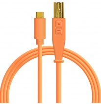 DJ TechTools USB-C Chroma Cable Neon Orange